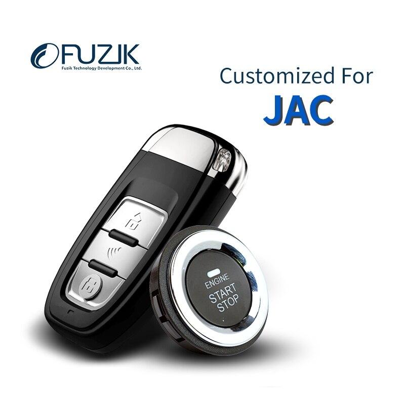 Fuzik Keyless Go Smart KEY ЗАМКАМИ ДИСТАНЦИОННОГО толчок боты для JAC S5 S2 S3 M4 iEV5 M3 EV4 EV3 EV7