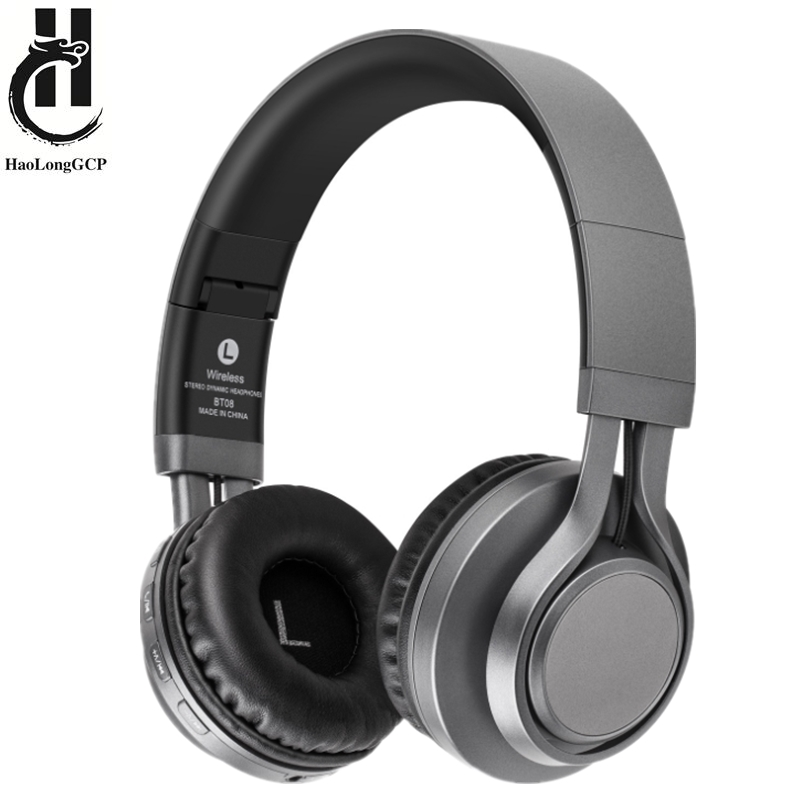 Headphone With Mic Support TF Card FM Radio Wireless Headphones Bass Headset For Cellphone PC TV MP3