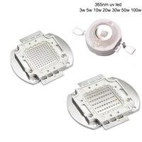 High Power LED Chip UV LED 365nm Lamp 3 W 5 W 10 W 20 W 30 W 50 W 100 W Ultraviolet Paars 365 nm COB LED Kralen voor Inkt Drogen Curing