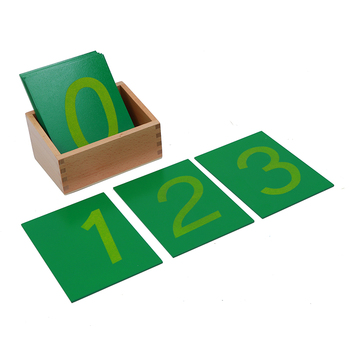 Montessori Math Materials Wooden Toys Early Educational Equipment 3-6 years Sandpaper Numbers With Box