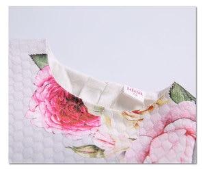 Image 3 - Bahar çocuk marka elbiseler A line çiçek gül bebek kız elbise zarif prenses elbise kız elbise 0 2T