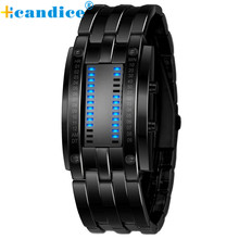 Multi function Men's Watch Luxury Stainless Steel Band LED Digital Watch Date Bracelet Sport Watches reloj hombre