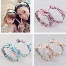 Korea High Quality Handmade Parent-child Cotton Knot Tie  Hair Accessories Girls Headband Band Bows Ties