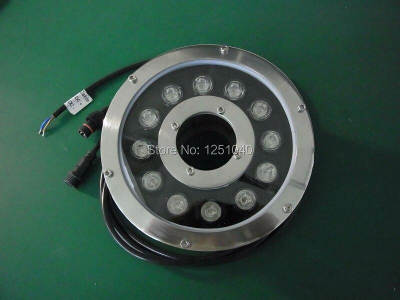 Vendas direto da fábrica 12 W rodada Underwater LED luz DC 24 V à prova d ' água IP68 piscina luzes CE RoHS Pond lâmpadas fonte da lâmpada