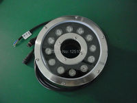 Factory Direct Sales 12W Round Underwater LED Light DC 24V Waterproof IP68 Swimming Pool Lights CE
