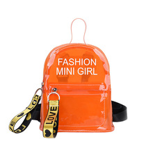 2019 Mini Transparent Women Backpacks Clear PVC Teenager Girls Zipper Student School Backpack Travel Bag Mochila Feminina