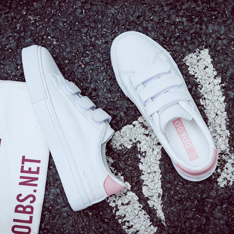 2018 New Fashion Women Shoes Casual High Platform Solid Color PU Leather Letter Women Casual White Shoes Sneakers chic letter u shape covered buckle solid color pu slender belt for women