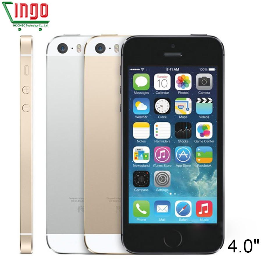 Unlocked Apple IPhone 5S 16GB 32GB 64GB ROM 4 0 Inch 8MP Touch ID ICloud App