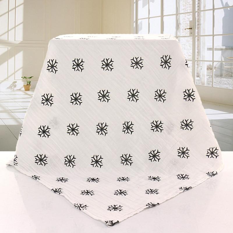 Muslin Blanet Cotton Gauze Baby Dynet 120x120cm Swaddle Newborn Infant Swaddle Baby Bath Håndkle Muslin Blanket