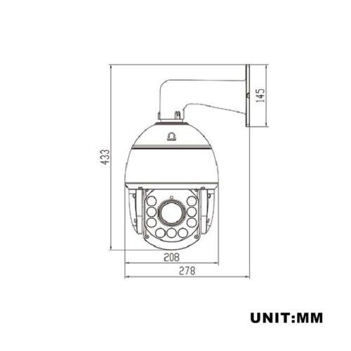YUNSYE Ücretsiz Kargo 4MP PTZ Kamera 22x optik zoom IR 250 m H.265 - Güvenlik ve Koruma - Fotoğraf 4