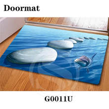 Free Shipping beautiful stone Zen stone Custom Doormat Home Decor Bedroom Carpet Classic Durable Floor Mat SQ0630-RT553(China)