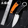 Sanrenmu S768 нож с фиксированным лезвием 12C27 лезвие полностью Tang дизайн с K оболочка Открытый джунгли инструмент выживания тактический охотничий...