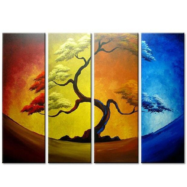 Modern Oil Paintings Abstract Tree Canvas Art Picture Home Wall ...