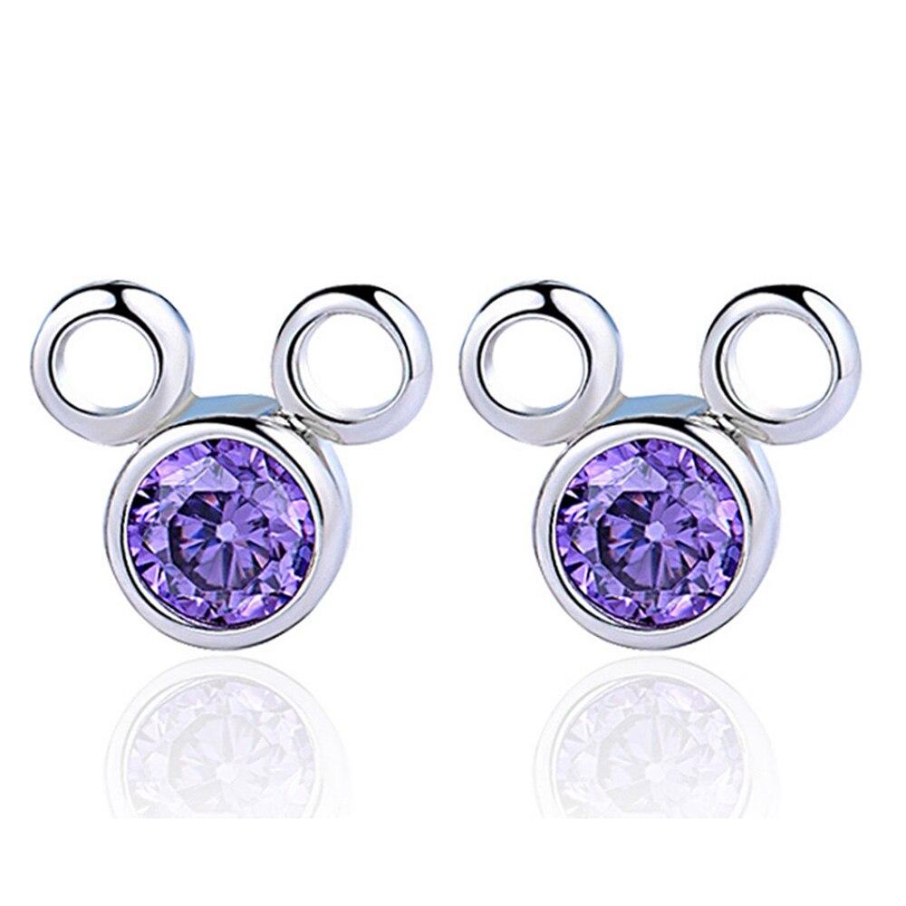 HOMOD Cartoon Mickey Minnie Earrings for Women Copper Animal Fashion Brand Earings Jewelry Pendients Children Kids Gifts in Stud Earrings from Jewelry Accessories