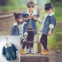 Children Thick Warm Outerwear Jeans Jacket Casual Coat Fashion Baby Boys Coat Kids Clothes