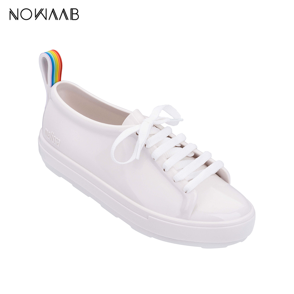 Melissa Be Rainbow 2019 New Women Flat Sandals Brand Melissa Shoes For Women Jelly Sandals Female Jelly Shoes With ShoelaceMelissa Be Rainbow 2019 New Women Flat Sandals Brand Melissa Shoes For Women Jelly Sandals Female Jelly Shoes With Shoelace