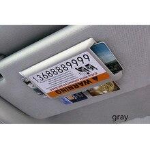 Emergency Car Sun Visor IC Card Clip Holder Storage Case CD Card Holder Pocket jun9 cdy leather car sun visor hanging type cd card holder clip grey