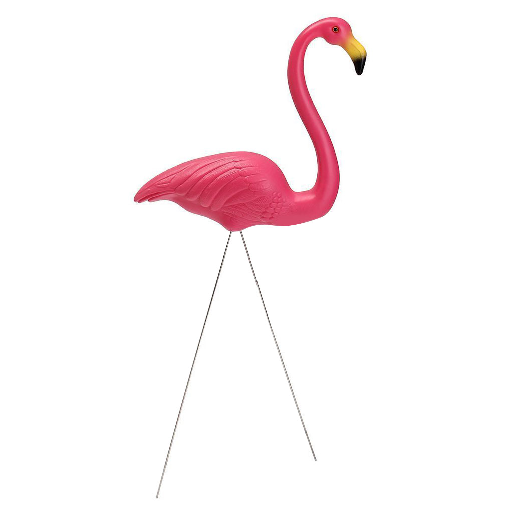 Pink Looking Up Lawn Flamingo Garden Party Grassland Ornament Art Decor DIY