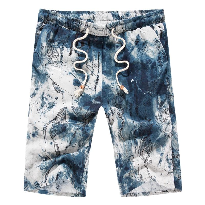 Shorts Men 2017 Summer Fashion Mens Shorts Casual Floral Cotton Slim Bermuda Masculina Beach Shorts Joggers Trouser Home tourism