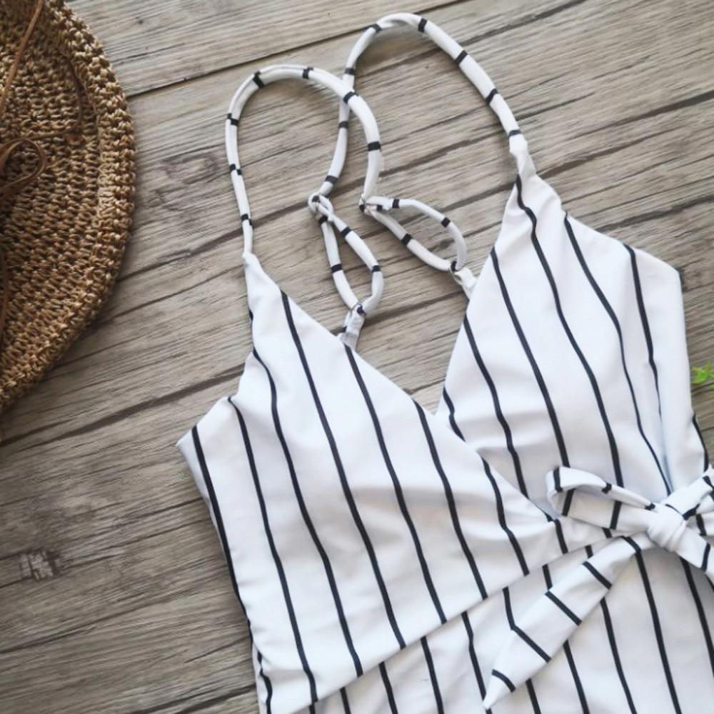 Womail 2018 Womens Siamese Swimwear one piece monokini swimsuit White Beach Bikini Bandage Push Up Padded Swiming suit #1986