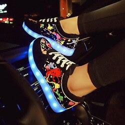 Светящиеся кроссовки с подсветкой; женские кроссовки со светящимися подошвами для девочек; обувь с подсветкой; zapatillas Led EU 27-44