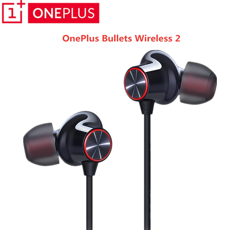 New Original Oneplus Bullets Wireless Earphone 2 aptX Neckband Fast Charger Hybrid Magnetic Mic Control For