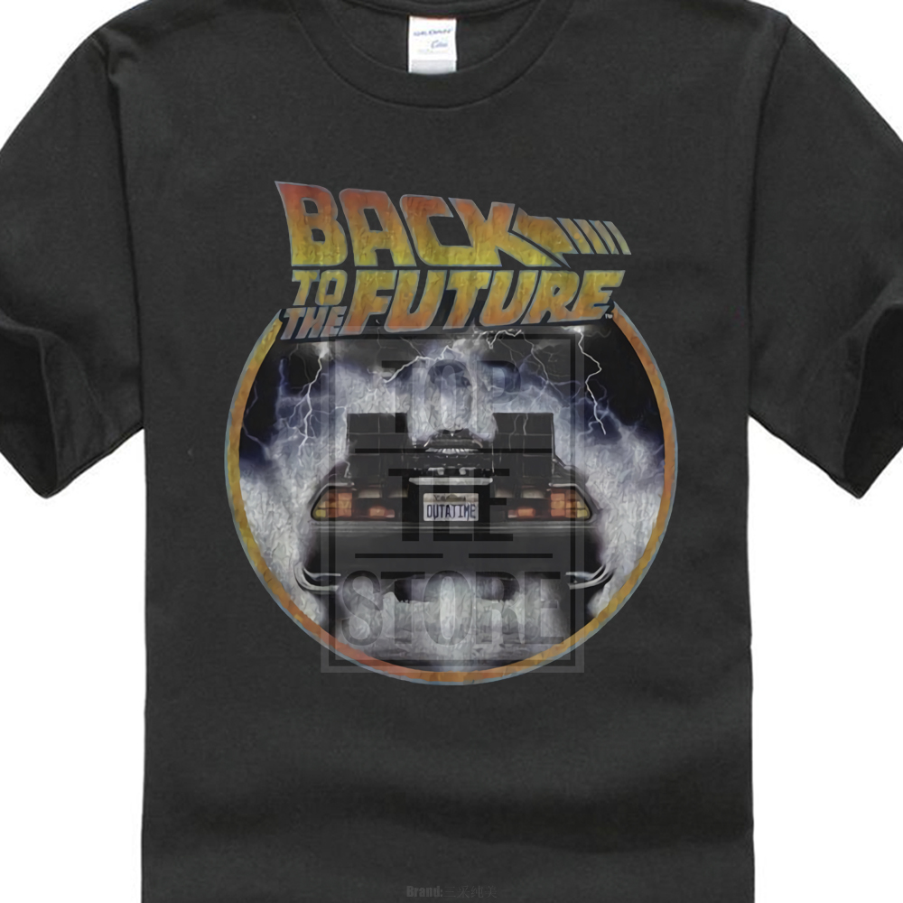 Back To The Future T Shirt Mens Back To Back 100% Black Cotton In Sizes Sm 4Xl ...
