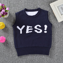 Funfeliz Baby Sweater Autumn Winter Toddler Girl Sweaters Knit Boy Vest Character Pullover Cardigan 1-4 Years