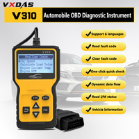 VXDAS V310 Car Code Reader Auto CAN OBD2 Scanner V1.1 16pin Male Engine Coolant Temp Car Speed Probe OBDII Diagnostic Tool