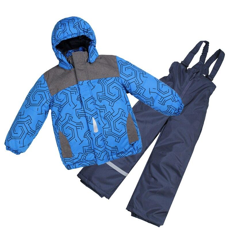 Moomin 2019 nouveauté imperméable enfants hiver ensemble chaud polaire à l'intérieur des garçons hiver ensemble bleu filles outwear ensemble neige combinaison