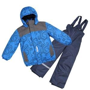 Moomin 2019, recién llegado, impermeable, conjunto de invierno para niños, forro polar cálido, conjunto de invierno para niños, conjunto de prendas de vestir azules para niñas, mono de nieve