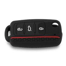Silicone voiture etui clés coquille fob pour VW Golf Bora Jetta POLO GOLF Passat POUR Skoda Octavia A5 Fabia POUR SEAT Ibiza Leon