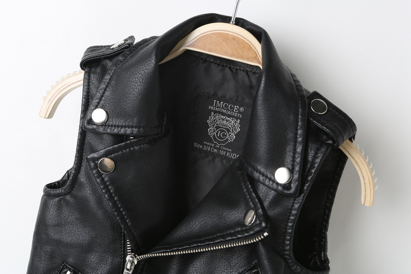 New Leather Vest Jacket for Girls Boys Leather Vests Advanced PU Imitation Leather Waistcoats Trim Fit Style clothing 3 12Yrs in Vests from Mother Kids