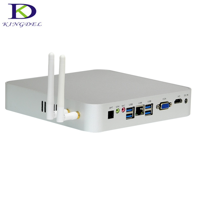 Kingdel Quad Core Fanless Mini Computer Intel Celeron N3150 Braswell HTPC Industrial Mini PC With 2*RS232 COM Wifi Windows10 Pro