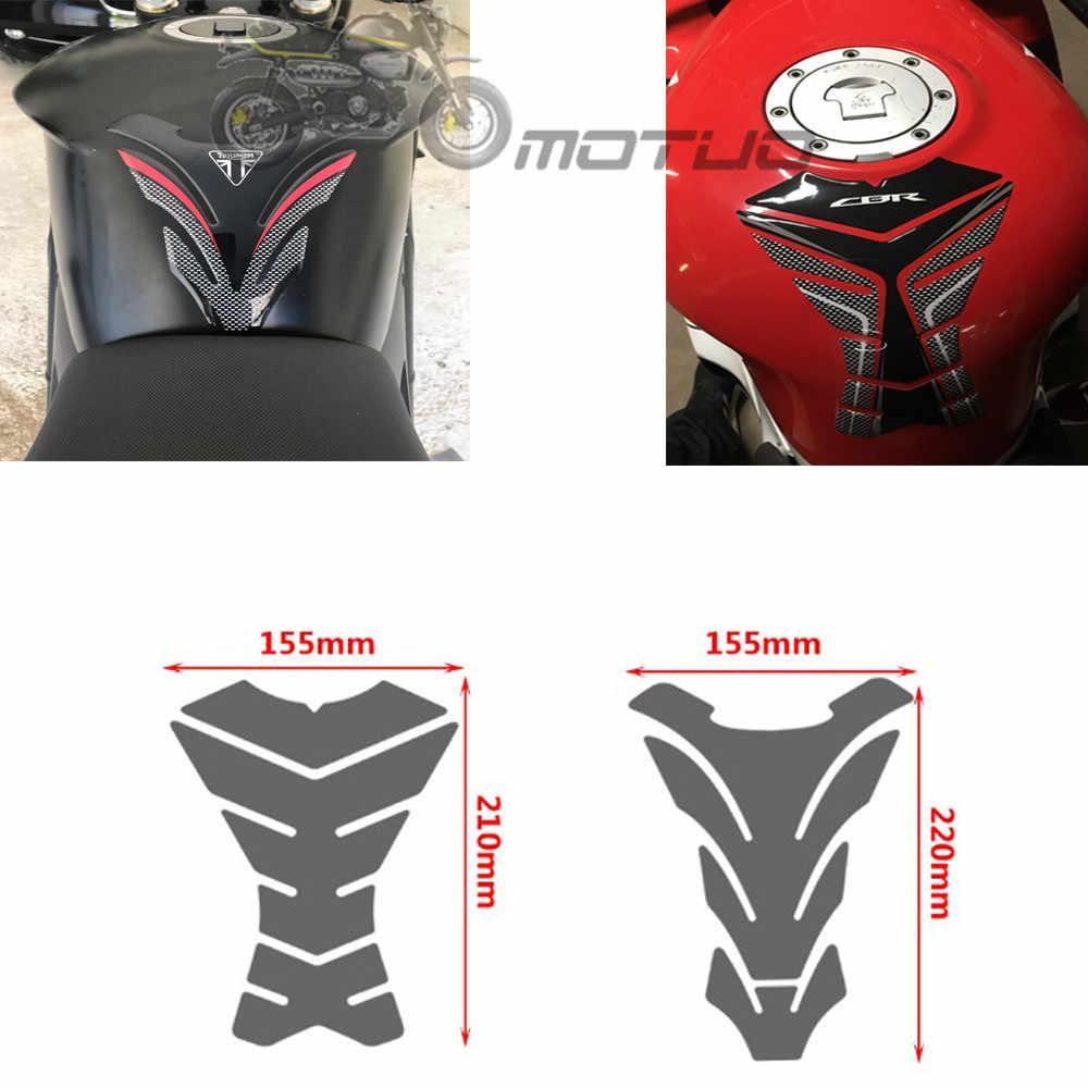 3D Carbon-look Motorcycle Tank Pad Protector Decal Stickers Case for Kawasaki ER6N ER-6N Tank All Years
