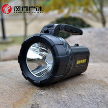 Portable light rechargeable led spotlights camping lantern searchlight hand-held spotlight lamp with buit-in battery