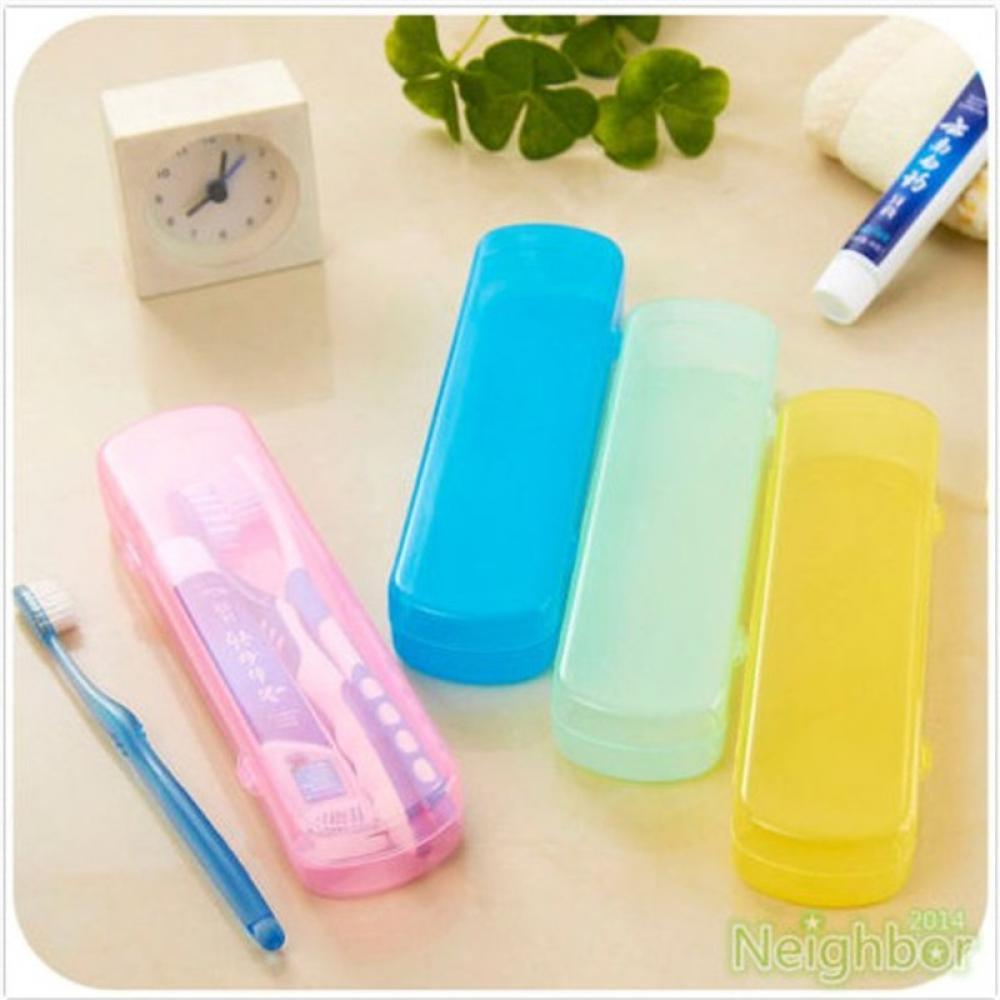 1 Pcs Portable Tooth Brush Storage Box Travel Camping Toothbrush Case Cover Safety Health Bathroom Storage Organizer Box