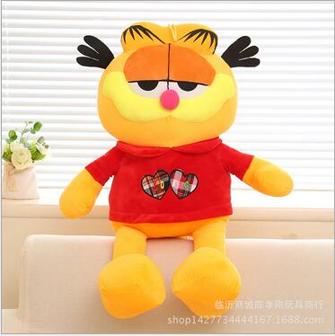 Children Stuffed Toy kids doll plush baby toys Garfield with red coat Christmas birthday gift children stuffed toy kids doll plush baby toys wholesale cute dog odie christmas birthday gift