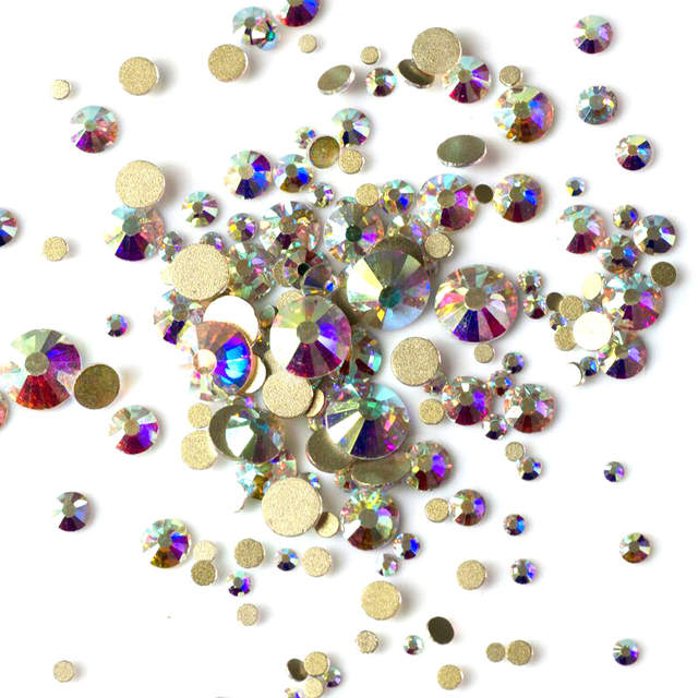 a299a0fea3 US $4.06 19% OFF|Top Quality 2058NoHF SS3 SS50 All Sizes 3D Nail Art  Decoration Crystal AB Strass Non Hotfix Flatback Rhinestones-in Rhinestones  & ...