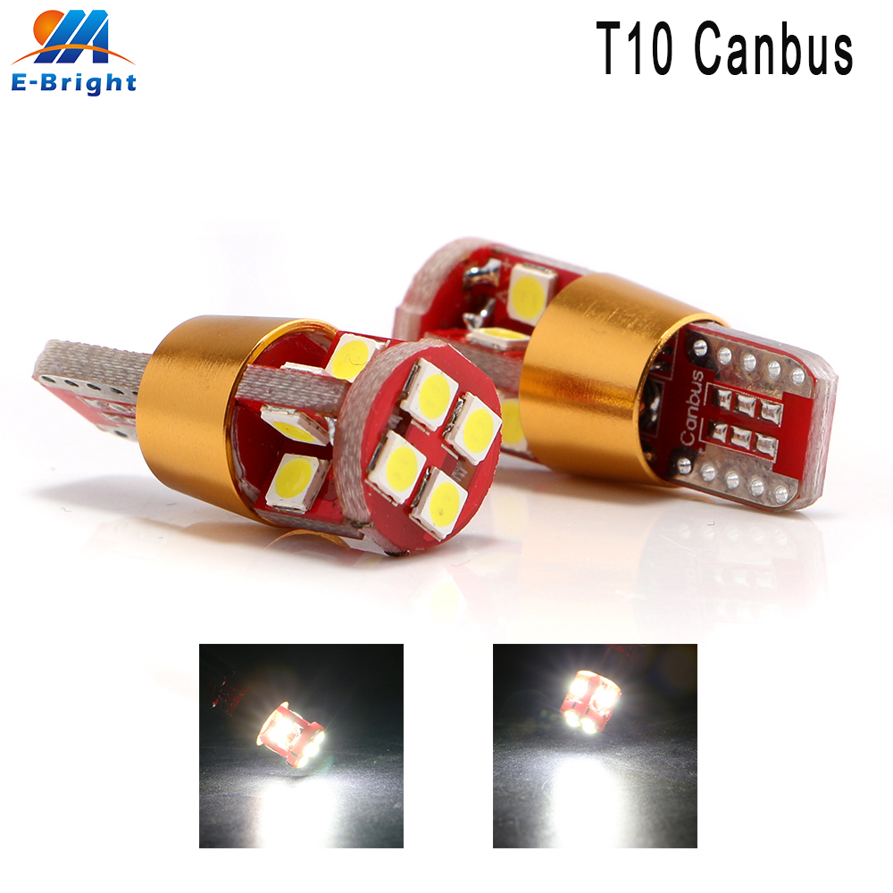 <font><b>10</b></font> <font><b>pcs</b></font> 12V <font><b>T10</b></font> Canbus 3030 12 SMD NO ERROR <font><b>Led</b></font> Bulb 9-30V Headlight Light Side Maker Lamp Indicator Light 960LM Error Free White image