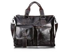 Maxdo Vintage Cow Leather Man Briefcase Real Skin Portfolio 14 inch Laptop Bag Real Genuine Leather Men Messenger Bags #MD-B260