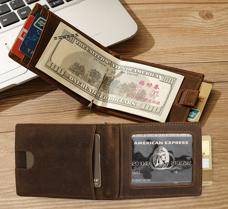 Personalized Space Explorer Genuine Leather Front Pocket Wallet