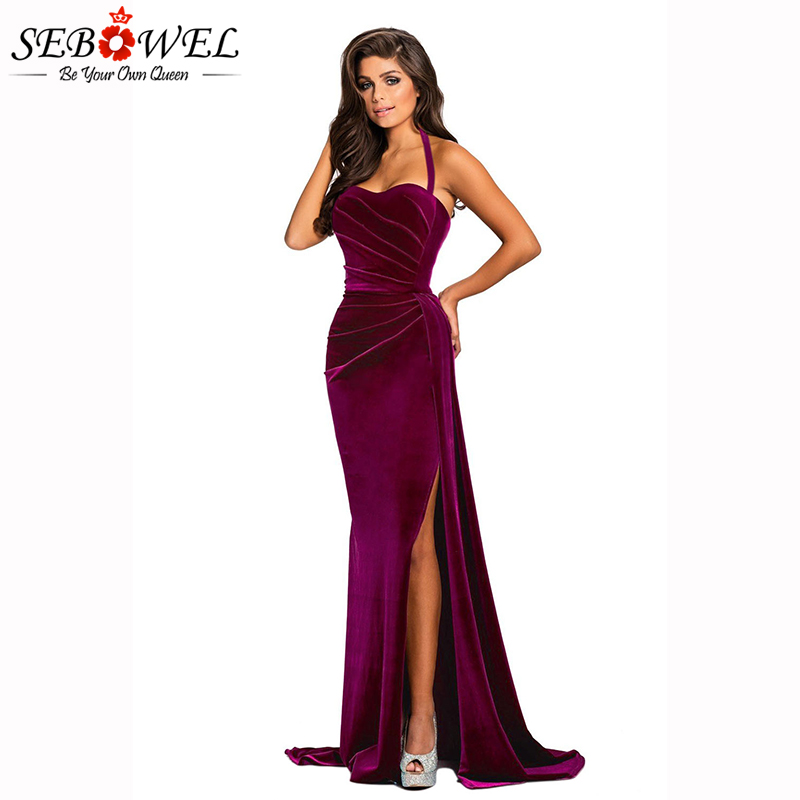 Rosy-Thigh-High-Split-Velvet-Evening-Gown-LC610993-6-3