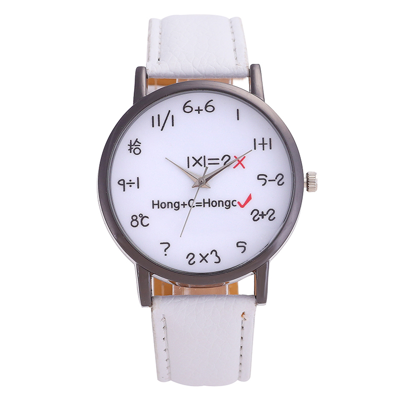 New Fashion Brand Watch Men Stainless Steel Dial Women Watches Mathematical Formula Pointer Luxurious Wrist Watch