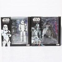 2pcs Set Star Wars Revoltech Darth Vader 001 Stormtrooper 002 PVC Action Figures Model Toys 16cm