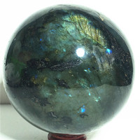 Ball Narural labradorite quartz Crystal Stone and craft reiki healing Decorative ball