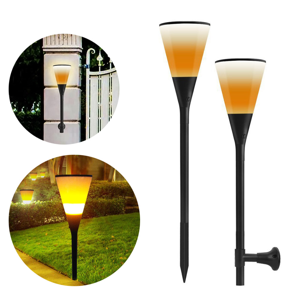 LED Solar Torch Flame Effect Fire Light Waterproof Garden Courtyard 96 Leds Flickering Lamp Christmas Decorative Lights