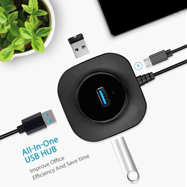 EASYIDEA USB HUB многопортовый USB-адаптер 3,0 HUB Micro USB 2,0 HUB внешний 4 Порты для Аксессуары для компьютеров PC ноутбук