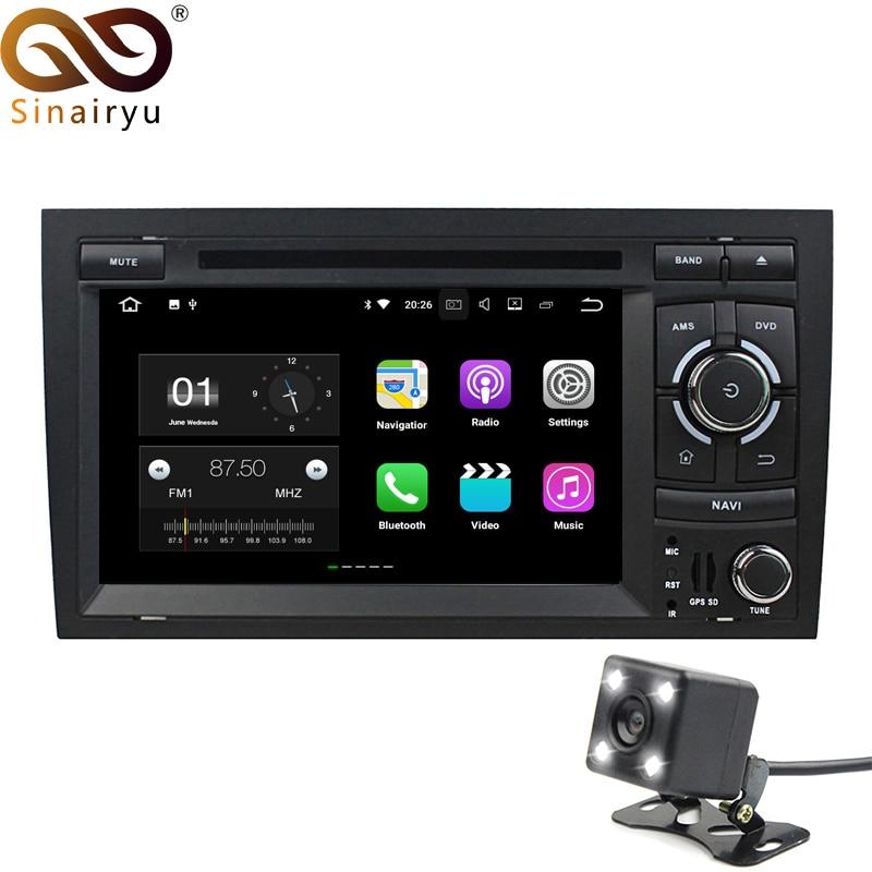 Sinairyu Android 7.1 автомобилей 2 DIN DVD для Audi A4 SEAT EXEO 2002 2003 2004 2005 2006 2007 2008 Octa core Радио плеер GPS головное устройство