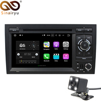 Sinairyu Android 7.1 Car 2 Din DVD for Audi A4 Seat Exeo 2002 2003 2004 2005 2006 2007 2008 Octa Core Radio Player GPS Head Unit